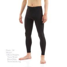 画像1: 紳士 レギンス、黒、東レサラカラ 吸汗速乾、UVカットUPF50+ (1)