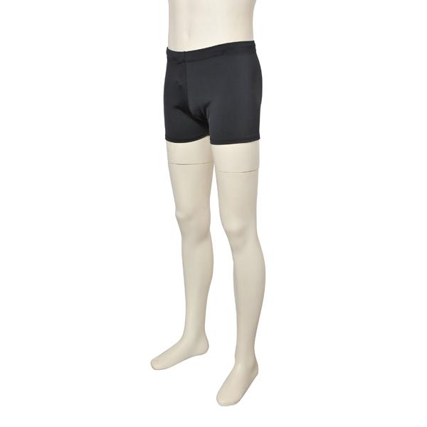 画像1: バレエ 紳士 1.5分丈パンツ、黒、吸汗速乾、UVカットUPF50+ 東レ サラカラ (1)