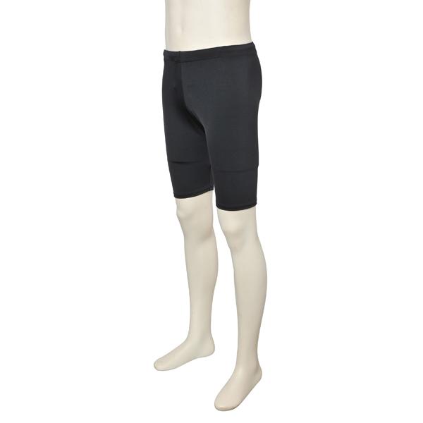 画像1: バレエ 紳士 5分丈パンツ、黒、吸汗速乾、UVカットUPF50+ (1)
