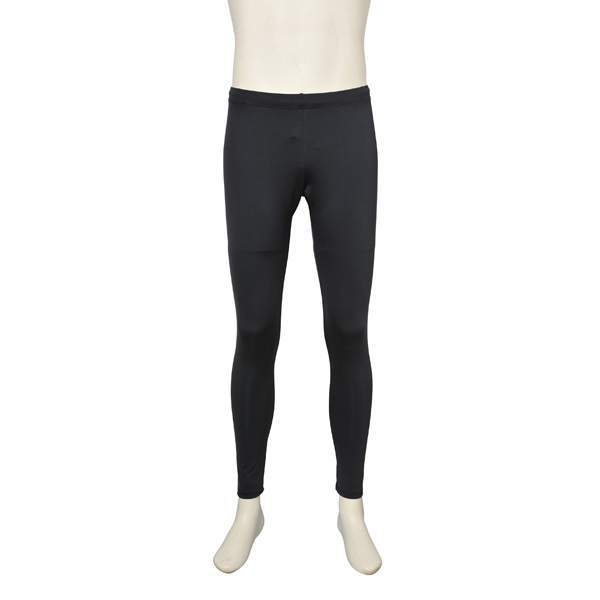 画像1: バレエ 紳士 レギンス、黒、吸汗速乾、UVカットUPF50+ (1)
